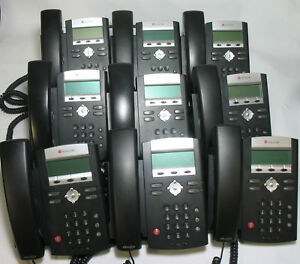 lot Of 9 Polycom Soundpoint Ip 335 Sip Voip Ip Business Phones