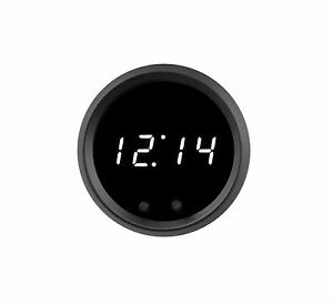 2 1 16 Universal Automotive Digital Clock White Led Gauge With Black Bezel