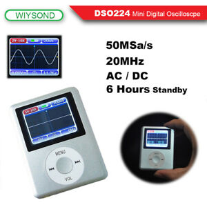Dso224 20mhz 100msa s Mini Portable Pocket Handheld Lcd Digital Oscilloscope