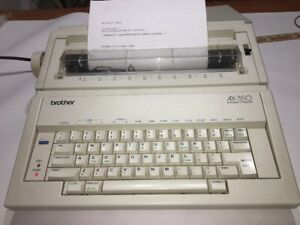 Brother Ax 350 Electronic Typewriter W Keyboard Cover