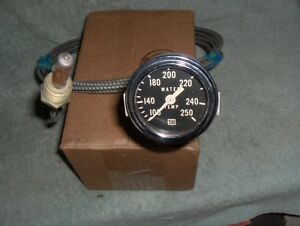 Vintage Stewart Warner Water Temp Gauge Assembly Original Hot Rod Drag Boat