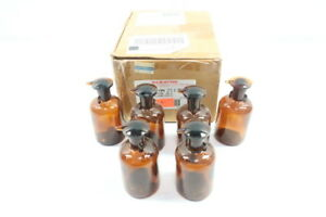 Box Of 6 Wheaton 211755 Amber Dropper Bottle W Stopper 100ml