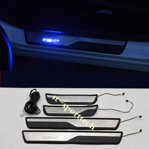 2017 2020 For Honda Crv Cr V Led Illuminated Door Sill Scuff Plate Guards Trim