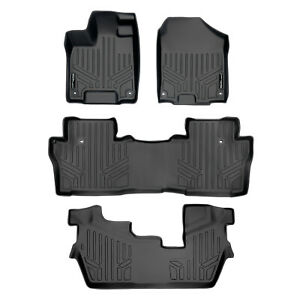 Maxfloormat Floor Mats For Honda Pilot 2016 2018 3 Row Set Black
