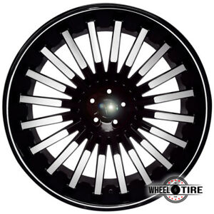 1 New Velocity Vw18 24x9 5 Black Machined Wheel 5x115 13 Free Shipping