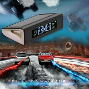 Car Tpms Tyre Pressure Monitoring System Lcd Display Solar Charging Alarm System