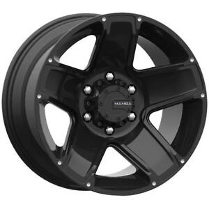 18x9 Black Mamba M13 6x135 25 Rims Nitto Trail Grappler 285 65 18 Tires