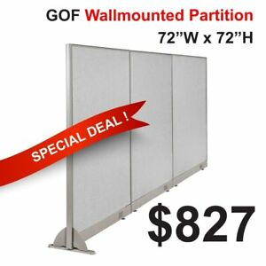may Special 6 Height Gof Wall Mounted Office Partition 6 w 8 w Divider