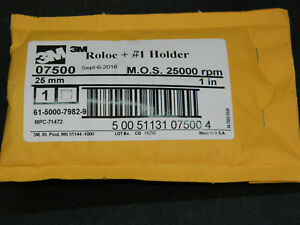1 New 3m 07500 Mandrel Roloc 1 Holder Adapter M O S 25 000 Rpm 1 Diameter