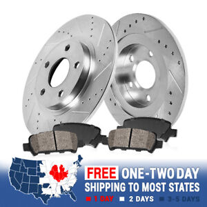 Rear Drill Slot Brake Rotors And Ceramic Pads For Expedition F150 Navigator