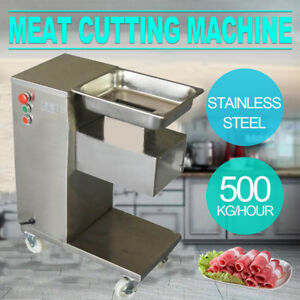 110v Meat Cutting Machine meat Cutter Slicer 500kg Output w One Sets Blade Top