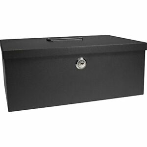 12 inch Cash Box And 6 Compartment Tray With Key Lock