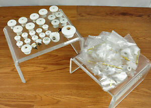 Large Lot Of 42 Porcelain Drawer Knobs Some Used And Some New W Hardware