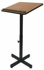 Amplivox Sound Systems Lectern Stand Adjustable 30 44in Oak W330 ok
