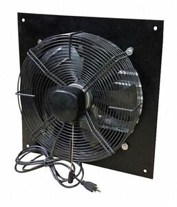 1 12 Hp 12 dia 115vacv Shutter Mount Exhaust Fan 14 Square Opening Required