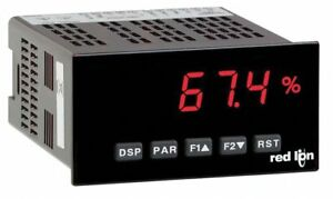 Red Lion Panel Meter Dc Red Display Vac Includes Instructions Paxd0000
