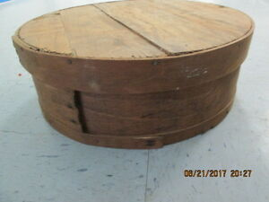 Antique Old Vintage Round Wooden Pantry Box