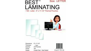 Best Laminating 7 Mil Letter Laminating Pouches 9 X 11 5 100 Pouches pack