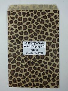 6 X 9 Leopard Print Design Paper Merchandise Bag Retail Shopping