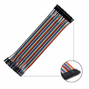 40pcs Dupont Wire Female To Female Connector Cable 2 54mm 1p 1p For Arduino