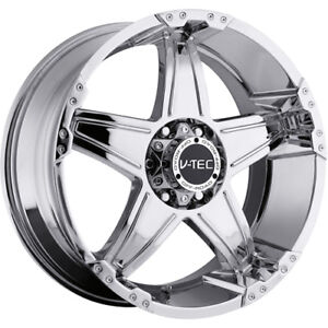 18x9 Chrome V tec Wizard 5x5 0 Rims Nitto Trail Grappler 285 65 18 Tires