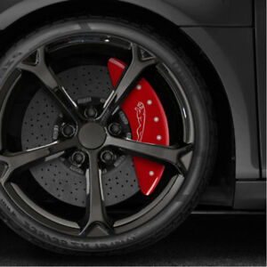 Red Caliper Covers Set Of 4 Engraved leaper For 2018 Jaguar F pace