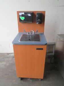 Edwards Cmhs Portable Mobile Hand Wash Sink Wood Concession Cabinet Hot Water