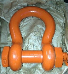 21 Ton Shackles Clevis 1 3 8 Machine Parts Hoist winch rigging Industrial