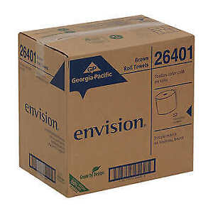 Georgia pacific Envision Paper Towel Rolls 1 ply Brown 12 count