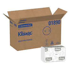Kleenex Multifold Paper Towels 1 ply White 1case 16 pack 2400 count