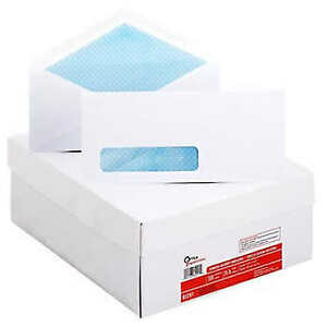 Office Impressions Security Tinted Window Envelope 4 1 8 X 9 1 2 White 500 co