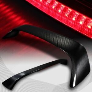 For 2006 2010 Honda Civic Coupe Carbon Fiber Rear Trunk Spoiler W Led Brake Lamp