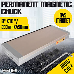 8 x18 Dense Permanent Magnetic Chuck Processing Sealed Chucks Stainless Steel