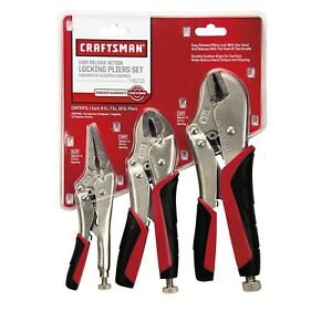 Craftsman 3 Piece 6 7 10 Inch Locking Pliers Set