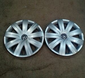 Vw Hubcaps 2008 2014 Jetta Wheel Cover 5c0 601 147d 15 Inch 2 Used D