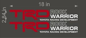 Toyota Trd Rock Warrior Red White Pair Vinyl Truck Replacement Graphic Decal