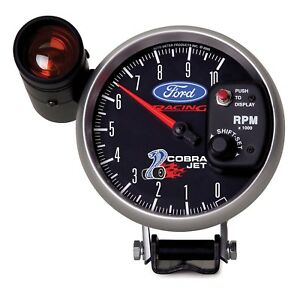 Auto Meter 880281 Ford Racing Series Tachometer Gauge 5 10000rpm W Shift Light