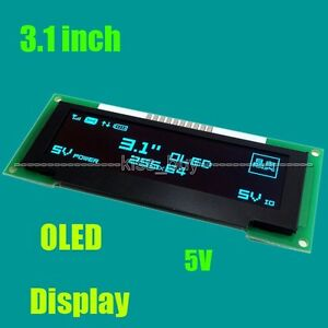 3 1 Inch Oled Lcd Screen 256x64 Oled Display Module Spi 5v For Arduino Uno R3