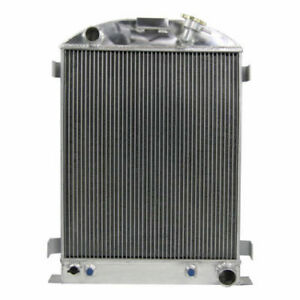 4row Core Aluminum Radiator For 1933 1934 Ford grill shells Chevy V8 engine Hot