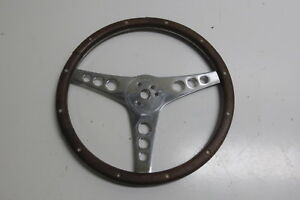 1950 s 1960 s Chevy Corvette Style Superior The 500 Steering Wheel Wood Walnut