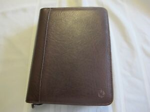 Franklin Covey Leather Binder Planner Organizer Office Classic Zip Up 7 Rings
