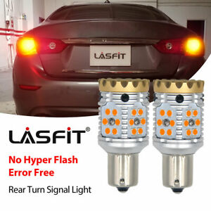 Lasfit Amber 1156 Ba15s 1156a Led Turn Signal Lights Anti Hyper Flash Error Free