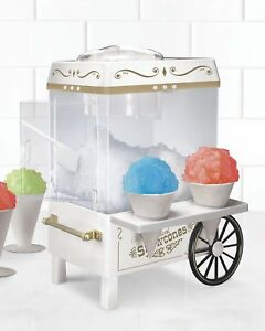 Snow Cone Maker Kit Tabletop Retro Machine Summer Fun Cold Drinks Ice Crusher