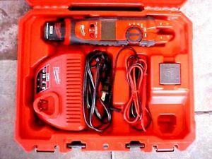 Milwaukee 12v Cordless Fork Meter 2207 20 Charger Probes Battery Carry Cases