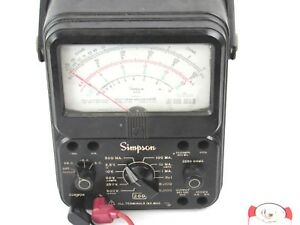 Simpson Electric 260 Series 7 Analog Multimeter Tested And Working See Pics