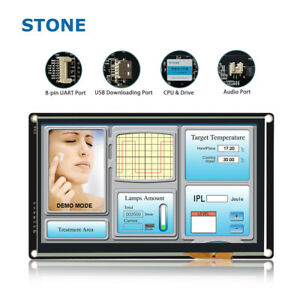 Stone 5 Tft Lcd Module For Automation Control System Round Lcd Display
