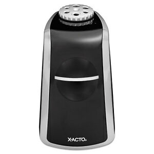 X acto Sharpx Principal Electric Pencil Sharpener Black silver Tested Working