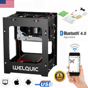 1500mw High Speed Bluetooth Usb Laser Engraver Diy Engraving Printer Machine New