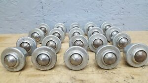 Lot Of 20 Conveyor Steel Ball Transfer Bearing Roller 1 Ball 1 4 20 Stud Bolt