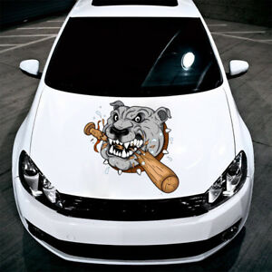 Angry Dog Sticker Car Hood Full Color Graphics Decals Any Vehicle Auto Sd68